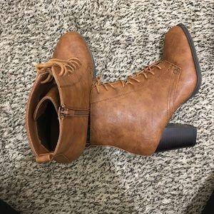 Brown high heel boot